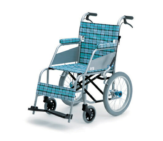 片山車椅子 KARL(カール) 介助式KW-903 スカッシュ・ブルー 座幅40cm【送料無料 非課税】[介護 ケア サポート 介護用品 通販 ケアサポート 補助 車いす 車椅子]