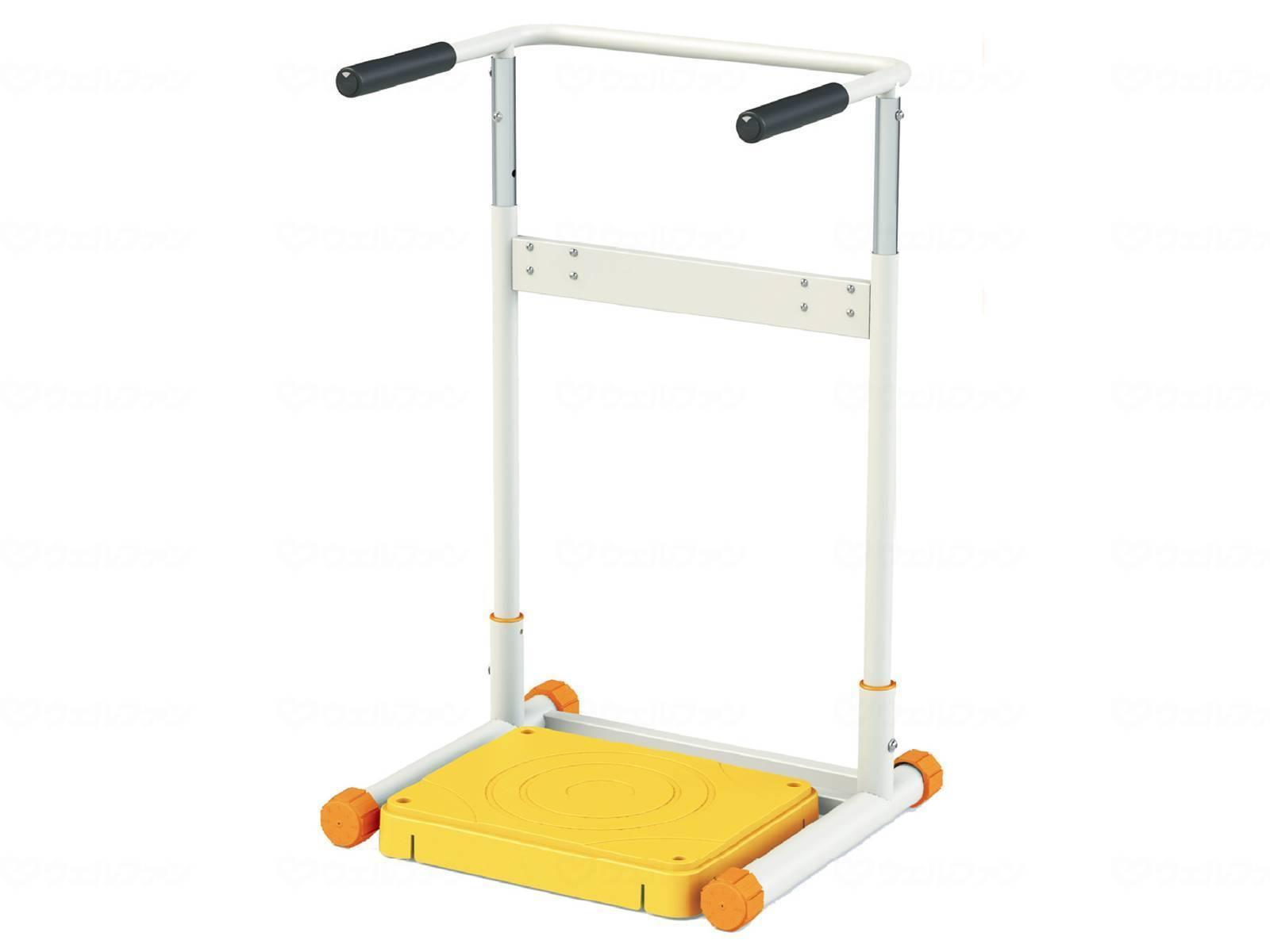 ウェルファン 補助フレーム付きストレッチボード楽々のりおり施設用/リハビリ/トレーニング/機能訓練筋力向上/持久力アップ/簡単/ステップ