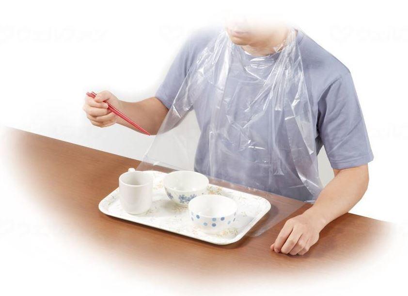 オオサキメディカル 使い捨て食事エプロン 73740 60枚×10箱/ケース [介護 ケア サポート 介護用品 通販]
