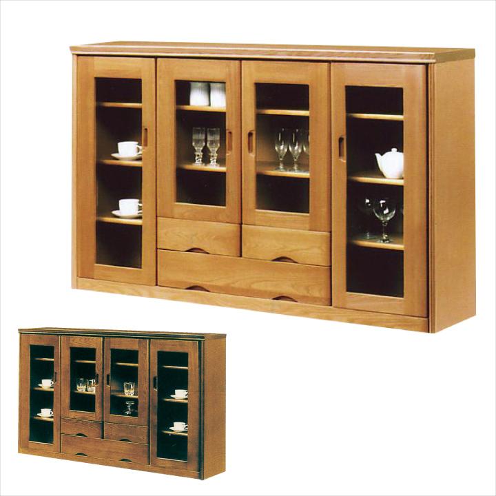 リビング収納 サイドボード キャビネット 幅157 国産 日本製 木製 開き扉 ガラス扉 引き出し 完成品 収納ラック 収納棚 ガラス ナチュラル ブラウン 北欧 モダン リビング収納 シンプル おしゃれ 送料無料 通販