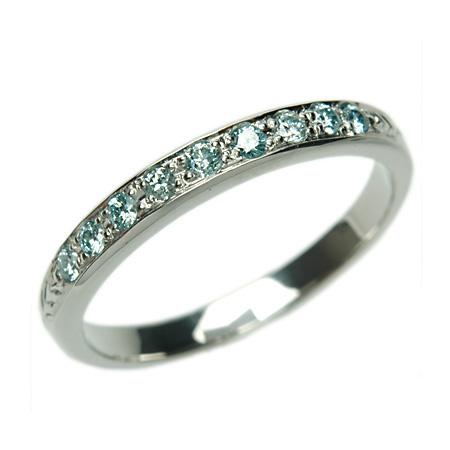 プラチナ リング アイスブルーダイヤモンドリング 0.18ct