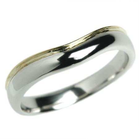プラチナ リング K18 18金 リング 結婚指輪 マリッジリング エーデルワイス Pt950×K18 18金 リング