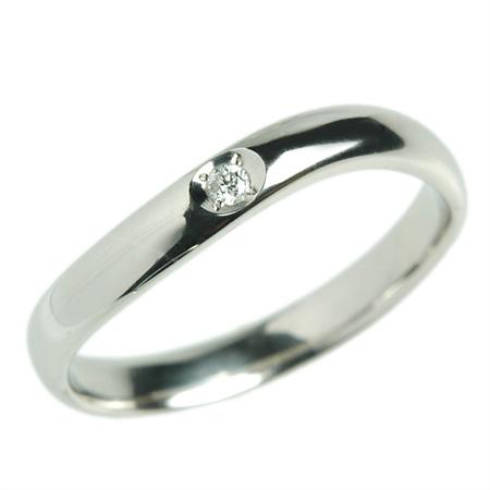 K18 18金 リング 結婚指輪 マリッジリング アルメリアダイヤ