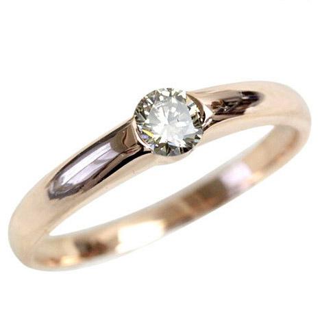 K10 ダイヤ リング シャンパン ブラウンダイヤ リング 0.2ct ダイヤモンドリング VS~SI1クラス【ダイヤ リング】【一粒ダイヤ】【あす楽対応】