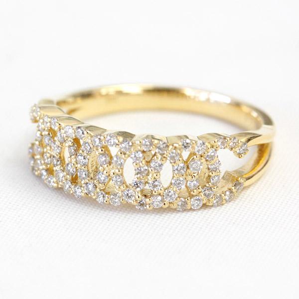 K18 18金 リング ダイヤモンド リング 0.35ct ダイヤ リング SIクラス
