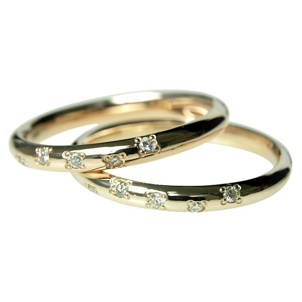 K10 ダイヤモンドリング0.05ct 重ね付けにもおすすめの華奢系ダイヤモンドリング【文字入れ不可】