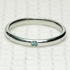 K18 18金 リング アイスブルーダイヤモンド リング0.02ct