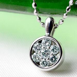K18 アイスブルー ダイヤモンド 0.14ct ペンダントトップ