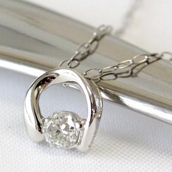 女子力アップのプラチナダイヤ!プラチナ900 ダイヤモンド ペンダント ネックレス 0.1ct 【送料無料】