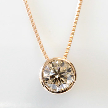 Ecce rakuten global market k18 champagne brown diamond 03ct k18 champagne brown diamond 03ct heart pendant diamond x necklace si class quality bezel setting mozeypictures Image collections