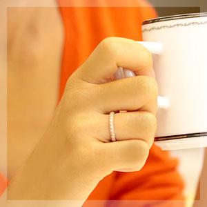 フルエタニティ 18金 リング 【文字入れ不可】 パヴェ リング K18 ダイヤモンド 0.5ct