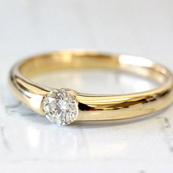 VS-SI1クラス ほんのりレモンイエローカラーが美しい ダイヤモンド リング 0.2ct永遠に輝き続ける~メビウスコレクション~