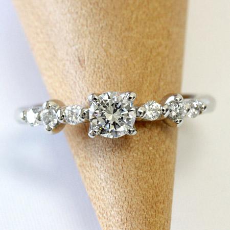 【中央宝石研究所ソーティング付】 プラチナ リング ダイヤモンド リング 0.3ctアップ エンゲージリング 婚約指輪 ブライダル F-G、SI、GOOD品質※ご希望のグレードがございましたらお問い合わせ下さいませ!