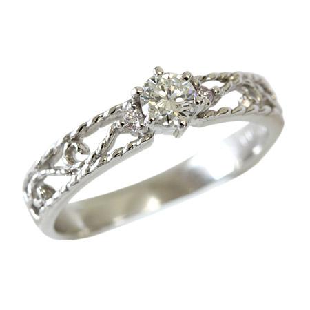 【中央宝石研究所ソーティング付】 プラチナ リング ダイヤモンド リング 0.2ctアップ サイドは希少ピンクダイヤモンド! エンゲージリング 婚約指輪 ブライダル F-G、SI、GOOD品質※ご希望のグレードがございましたらお問い合わせ下さいませ!