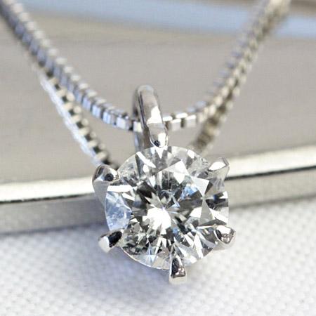 Pt900 ダイヤモンド ネックレス 一粒 プラチナ ダイヤモンド 0.2ct ペンダント 一粒 ダイヤ ネックレス ※チェーンはK18WG【あす楽対応】
