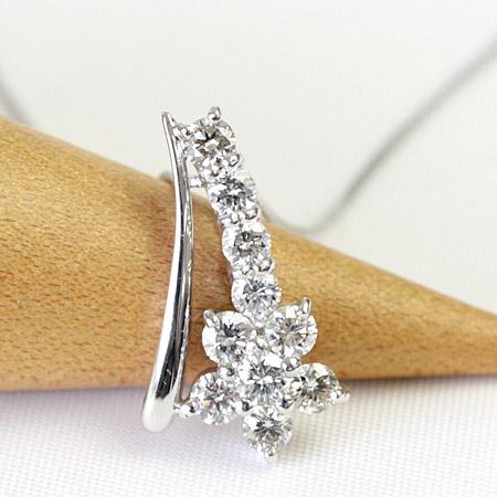 ダイヤモンド ネックレス 0.5ct K18 10石 スイートテンダイヤペンダントネックレス