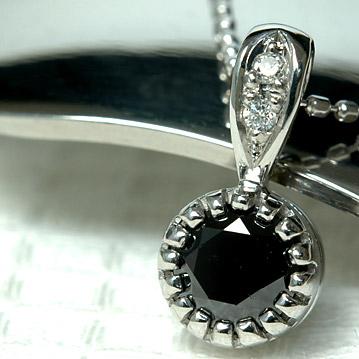 大人の女性を演出する漆黒の煌き K18 ブラックダイヤモンド 正規激安 ペンダントトップ 0.5ct 即日出荷 ダイヤモンド