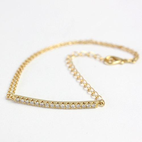 K18 ダイヤモンド ブレスレット ローピング ダイヤブレス 0.2ct ゴールド ラインブレス 新感覚ブレスレット 13.5cm~16cm(特注サイズはご相談下さい)