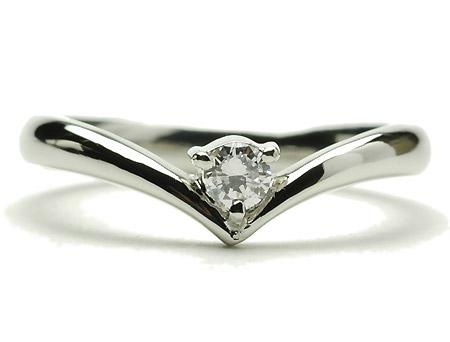 プラチナ リング ダイヤモンドリング0.1ct