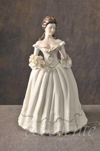 SV-2362L イタリア製 陶人形 Lady Reading