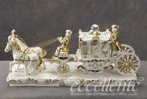 ★ イタリア家具 ヨーロッパ家具 SV-49802 イタリア製陶人形 SV-49802 Imperial Carriage 【イタリアン家具 ヨーロピアン家具 輸入家具 アンティーク調】