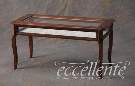LA-0209 イタリア製 ディスプレイテーブル 茶