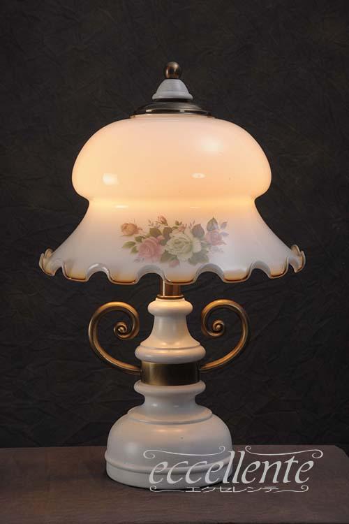 L1868DW イタリア製 ランプ Whiteglass Decape1灯