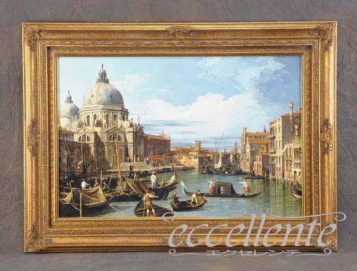 804417137 イタリア製 額絵大 ヴェネチア サルーテ聖堂2