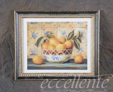 457103816 イタリア製 額絵小 レモン