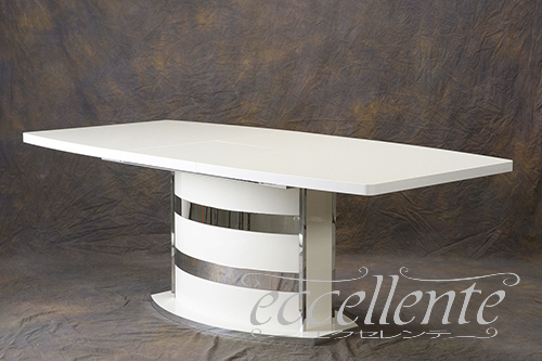 【即納】 RO-TAV05BI イタリア製 ダイニングテーブル 伸長式(160+45) Roma White, 波佐見町 4f925219