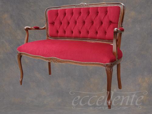 【表示価格からさらに10%OFF】 イタリア家具 ヨーロッパ家具 TS-55D/DRイタリア製ラブチェア