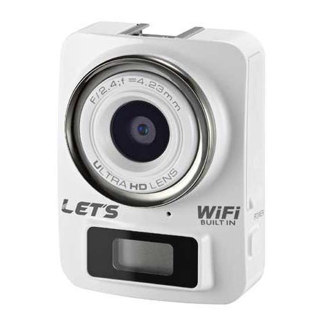【送料無料】【正規品】レッツコーポレーション 800万画素 4K&Full HD 超ミニカメラ デジタルカメラ アクションカメラ L-MC4K(W-ホワイト)L-MC4K-W LMC4K-W【スーパーSALE】