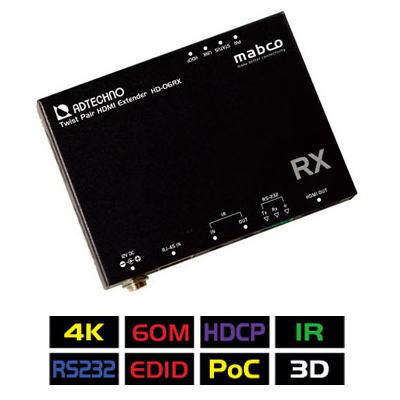 【お取り寄せ商品】【送料無料】ADTECHNO エーディテクノ 4K UHD@60、1080p60、HDCP2.2に対応!HDMI信号を非圧縮で伝送可能なHDBaseT&HDMIエクステンダーRx 受信機 HD-06RX HD06RX
