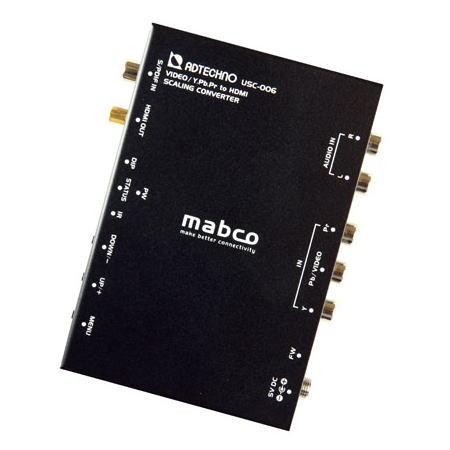 【お取り寄せ商品】ADTECHNO エーディテクノ 映像信号をスケーリング変換する業務用アップスキャンコンバータ ビデオ/コンポーネント→HDMIコンバータ USC-006 USC006