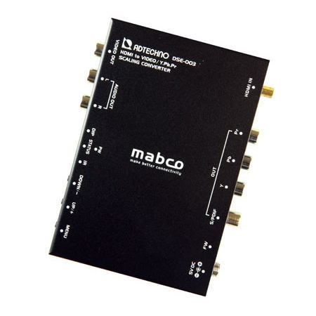 【お取り寄せ商品】ADTECHNO エーディテクノ 映像信号をスケーリング変換する業務用スキャンコンバータ HDMI→ビデオ/コンポーネントコンバータ DSE-003 DSE003