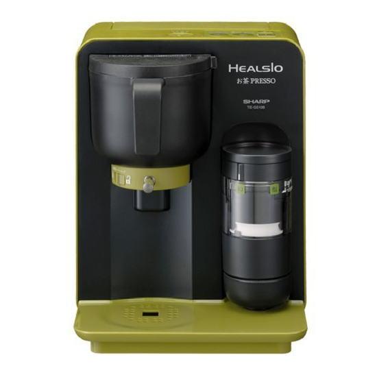 【送料無料】SHARP シャープ 「挽く・沸かす・点てる」をこの一台に凝縮!お茶メーカー ヘルシオお茶プレッソ TE-GS10B-G(グリーン系) TEGS10BG