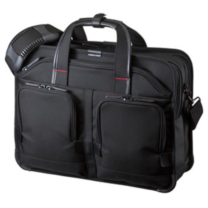 【送料無料】SANWA SUPPLY サンワサプライ しっかり自立し高級感のある仕上げのハイエンドビジネスモデル 15.6インチワイド ダブルルーム ブラック BAG-EXE8 BAGEXE8