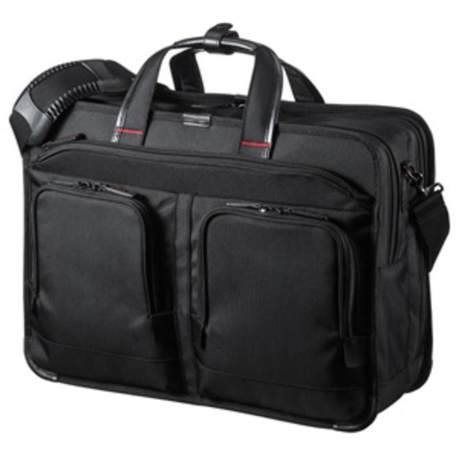 【送料無料】SANWA SUPPLY サンワサプライ しっかり自立し高級感のある仕上げのハイエンドビジネスモデル 15.6インチワイド・大型ダブルルーム (ブラック) BAG-EXE9 BAGEXE9【スーパーSALE】