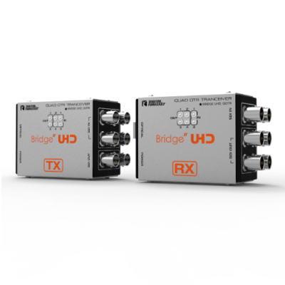 【お取り寄せ商品】【送料無料】ADTECHNO エーディテクノ 送信機から受信機へ3G-SDI 4系統伝送で4K UHDにも対応!4K UHD対応3G-SDI6系統伝送光延長器 UHD_QOTR