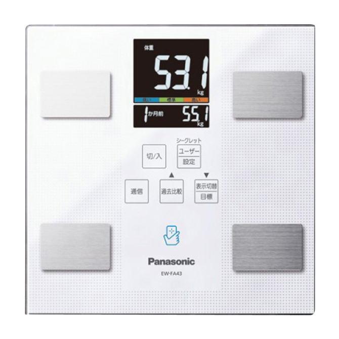 【送料無料】Panasonic パナソニック 体組成バランス計 EW-FA43(W-ホワイト) EWFA43W