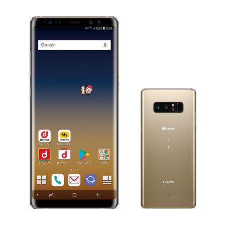 【お取り寄せ商品】【送料無料】【国内正規品】docomo SIMフリースマートフォン(白ロム)Galaxy Note8 SC-01Kセット(メープルゴールド)