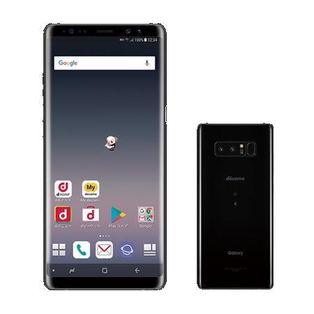 【お取り寄せ商品】【送料無料】【国内正規品】docomo SIMフリースマートフォン(白ロム)Galaxy Note8 SC-01Kセット(ミッドナイトブラック)