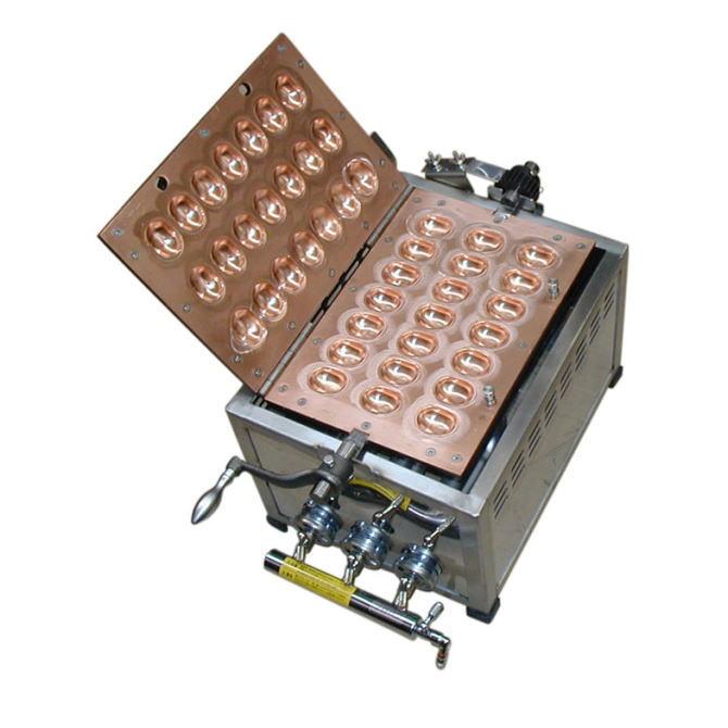 イベント用品 模擬店用品 業務用 385(+250)×300×280 ベビーカステラ器 21穴【ガス種:プロパン(LPガス)】