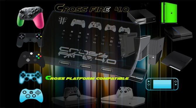 【送料無料】UNISTAR 家庭用ゲーム機5 種類で使えるコントローラーコンバータ XCMCF40 XCMCF40(SSJ)