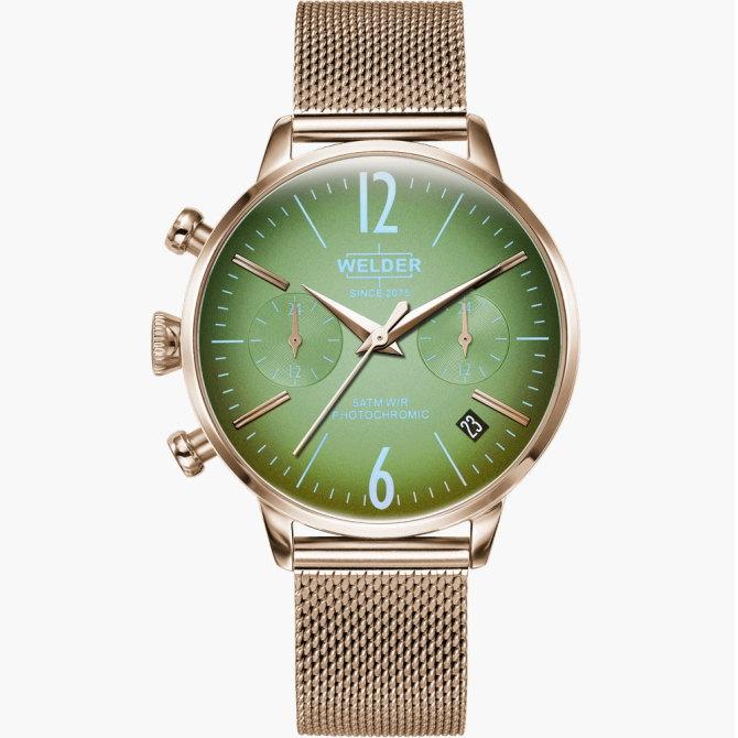 【送料無料】WELDER MOODY ウェルダームーディ 光の角度に応じて色を変える偏光ガラスを採用した腕時計 36MM DUAL MOODY WWRC715【NP】