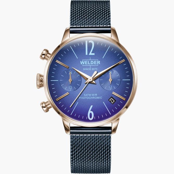 【送料無料】WELDER MOODY ウェルダームーディ 光の角度に応じて色を変える偏光ガラスを採用した腕時計 36MM DUAL MOODY WWRC717【NP】