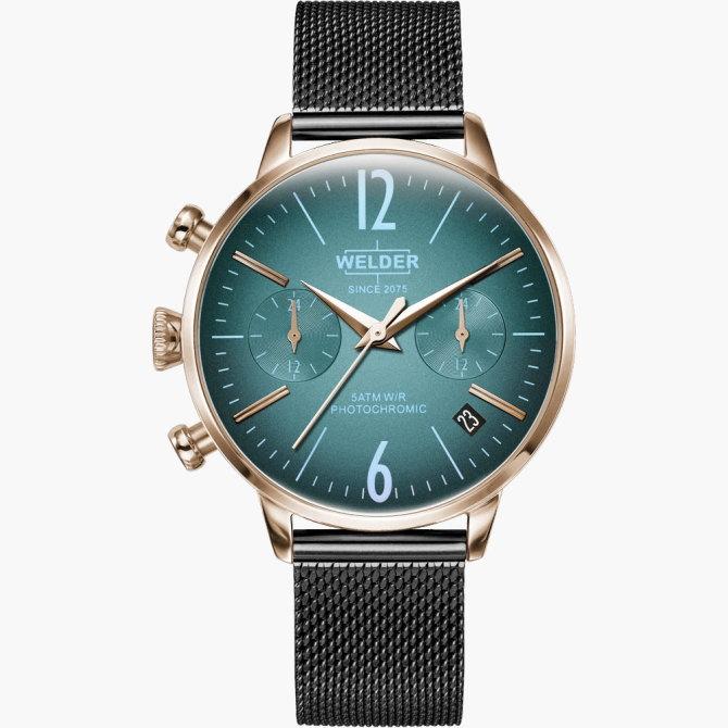【送料無料】WELDER MOODY ウェルダームーディ 光の角度に応じて色を変える偏光ガラスを採用した腕時計 36MM DUAL MOODY WWRC726【NP】