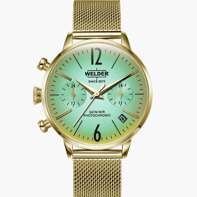 【送料無料】WELDER MOODY ウェルダームーディ 光の角度に応じて色を変える偏光ガラスを採用した腕時計 36MM DUAL MOODY WWRC714【NP】
