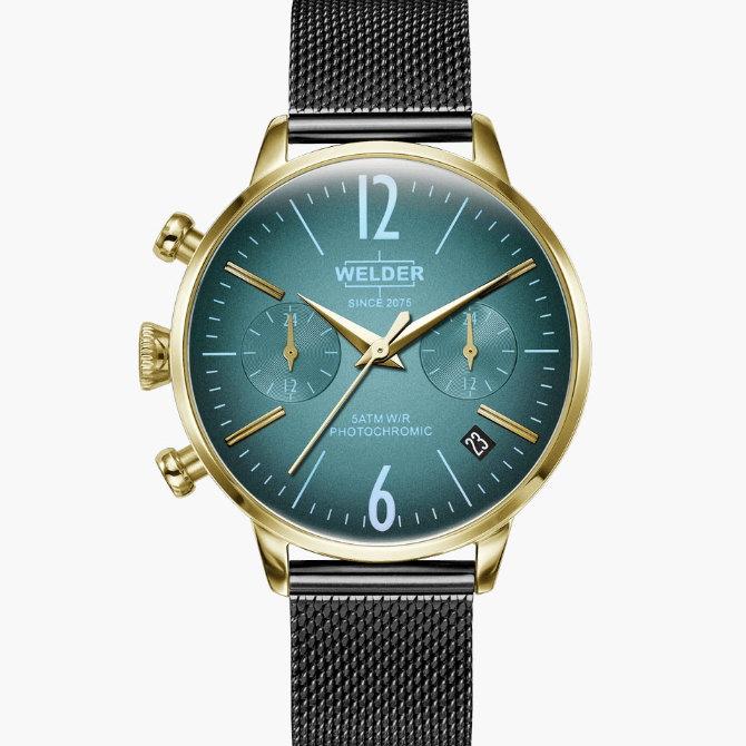 【送料無料】WELDER MOODY ウェルダームーディ 光の角度に応じて色を変える偏光ガラスを採用した腕時計 36MM DUAL MOODY WWRC727【NP】