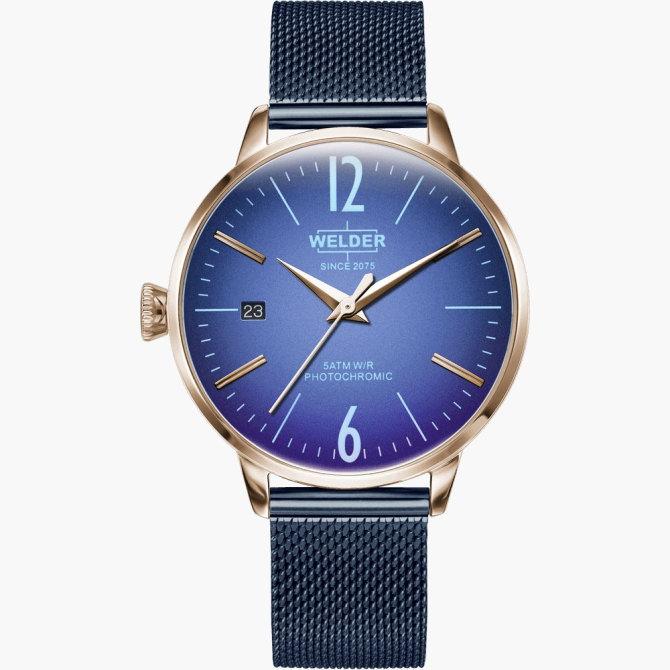 【送料無料】WELDER MOODY ウェルダームーディ 光の角度に応じて色を変える偏光ガラスを採用した腕時計 36MM 3HANDS MOODY WRC725【NP】